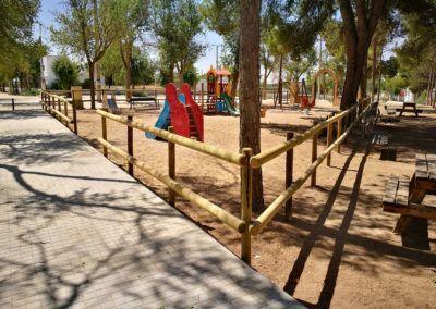 Vallado parque infantil