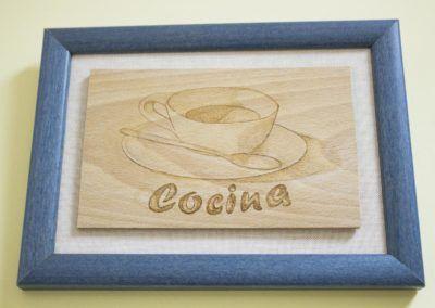 Rótulo de señalización de Cocina