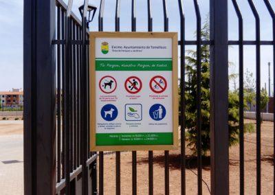 Señalética-normas-de-uso-parque-Virgen-de-las-Viñas-Tomelloso