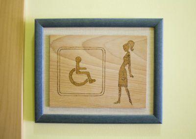 Rótulo de Servicios Mujer y Discapacitados
