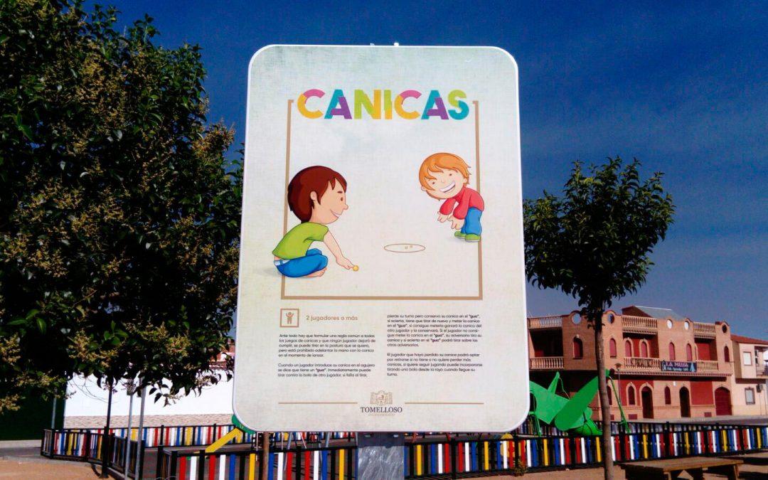 Señalética Parque de Embajadores en Tomelloso