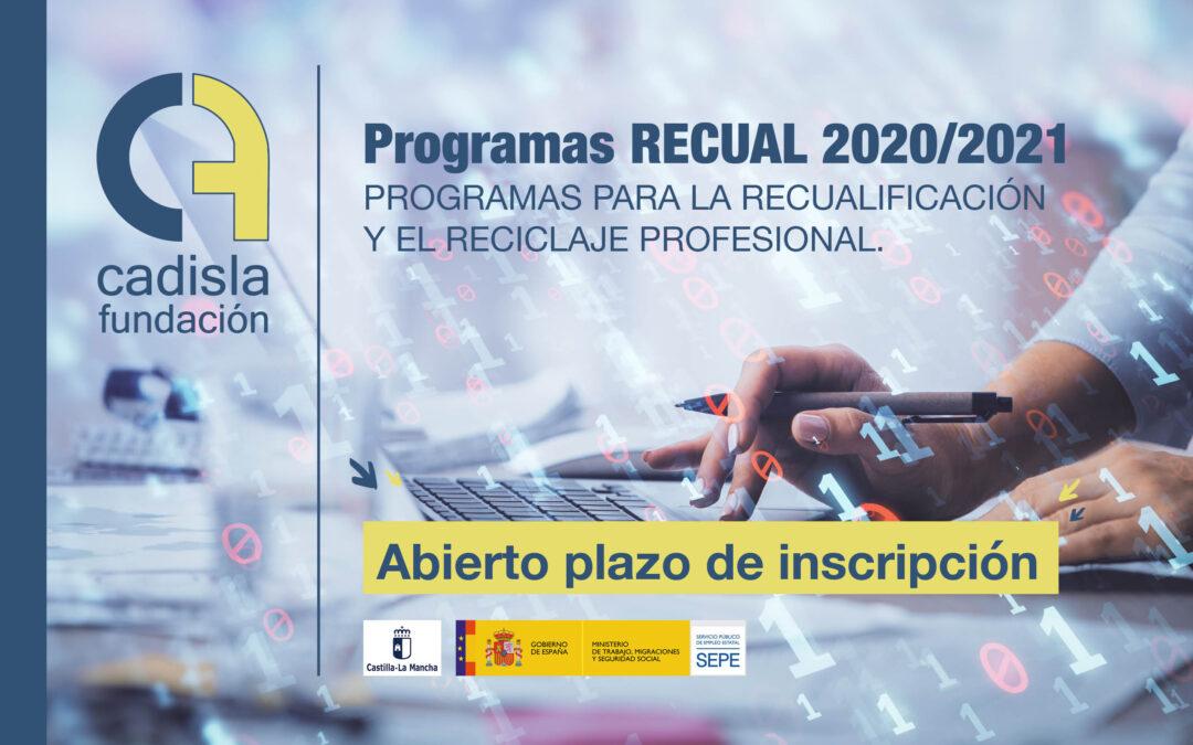 Abierta la inscripción a los programas RECUAL 2020/2021